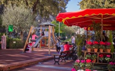 Nice playground next to the market