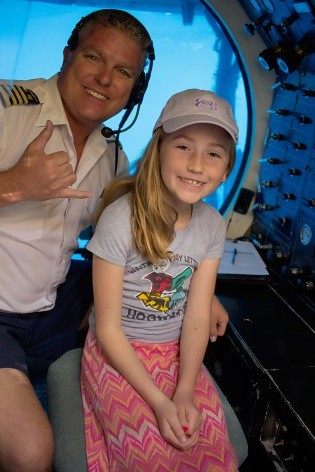 Oue niece meeting the captain