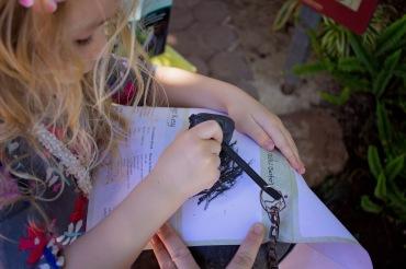 She loved her little booklet!