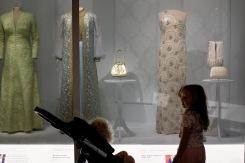 Admiring the First Ladies' dresses
